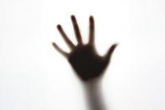 Siluetta di gesto di mano Fotografia Stock Libera da Diritti