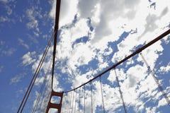 Siluetta di golden gate bridge Immagini Stock Libere da Diritti