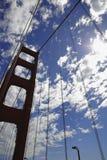 Siluetta di golden gate bridge Fotografia Stock Libera da Diritti