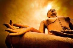 Siluetta di grande Buddha Fotografia Stock