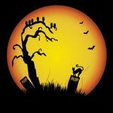 Siluetta di Halloween Immagine Stock Libera da Diritti