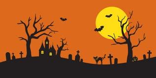 Siluetta di Halloween Fotografia Stock Libera da Diritti