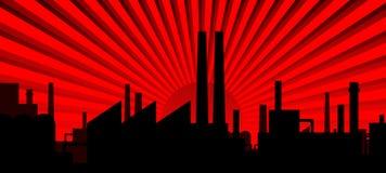 Siluetta di industria Immagine Stock Libera da Diritti