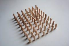 Siluetta di legno di rettangolo dei bastoni Fotografia Stock Libera da Diritti