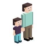 siluetta di lego con il padre ed il figlio illustrazione vettoriale