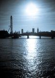 Siluetta di Londra Fotografie Stock Libere da Diritti