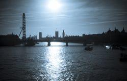Siluetta di Londra Fotografia Stock Libera da Diritti