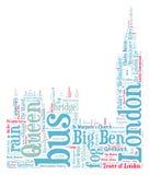 Siluetta di Londra Big Ben Fotografia Stock Libera da Diritti