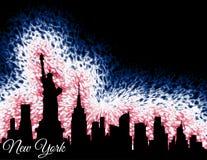 Siluetta di New York City Immagini Stock Libere da Diritti