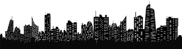 Siluetta di paesaggio urbano illustrazione di stock