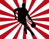 Siluetta di pallacanestro Fotografie Stock Libere da Diritti