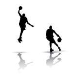 Siluetta di pallacanestro illustrazione di stock