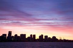 Siluetta di Perth fotografia stock libera da diritti