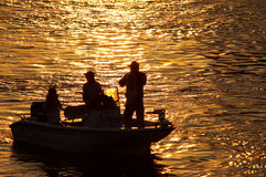 Siluetta di pesca Immagini Stock Libere da Diritti