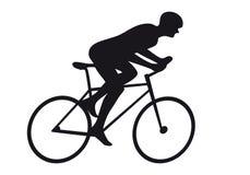 Siluetta di riciclaggio dell'icona della corsa del ciclo del ciclista del ciclista della strada Fotografia Stock Libera da Diritti