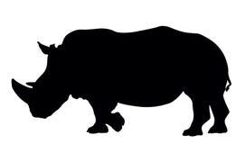 Siluetta di rinoceronte Fotografie Stock