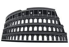 Siluetta di Roma Colosseum illustrazione di stock