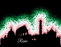 Siluetta di Roma Italia Immagini Stock Libere da Diritti
