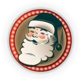 Siluetta di Santa Claus nel telaio illustrazione vettoriale