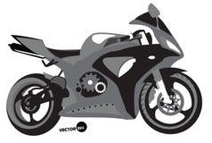 Siluetta di Sportbike, trasporto per velocità e sport estremi, motocross Motociclo, corredo dell'organizzazione sportiva, vettore Immagine Stock Libera da Diritti