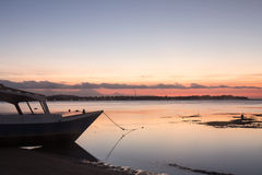 Siluetta di tramonto Immagine Stock