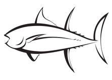 Siluetta di Tuna Fish Fotografie Stock Libere da Diritti