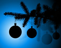 Siluetta di un albero di Natale Fotografia Stock Libera da Diritti