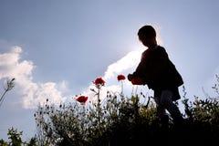 Siluetta di un bambino Immagini Stock Libere da Diritti