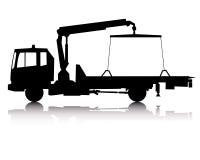 Siluetta di un camion di rimorchio Immagini Stock