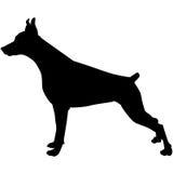Siluetta di un cane Illustrazione di vettore Fotografia Stock