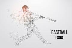 Siluetta di un giocatore di baseball Illustrazione di vettore illustrazione vettoriale