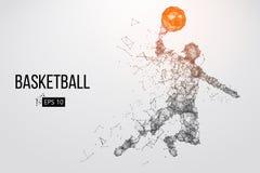 Siluetta di un giocatore di pallacanestro Illustrazione di vettore illustrazione vettoriale