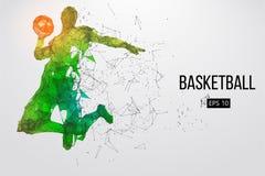 Siluetta di un giocatore di pallacanestro Illustrazione di vettore illustrazione di stock