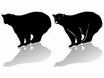 Siluetta di un orso polare Illustrazione di vettore Fotografia Stock Libera da Diritti