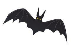 Siluetta di un pipistrello di volo Fotografie Stock