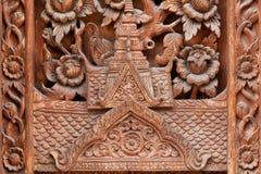 Siluetta di un tetto di un tempio buddista Fotografie Stock Libere da Diritti