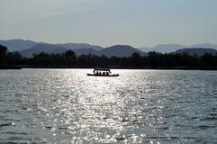 Siluetta di una barca Immagine Stock Libera da Diritti