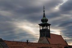 Siluetta di una chiesa Immagine Stock Libera da Diritti