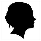 Siluetta di una donna nel profilo Immagini Stock Libere da Diritti