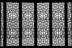 Siluetta di una finestra, il Sud Corea Immagini Stock