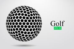 Siluetta di una palla da golf Illustrazione di vettore royalty illustrazione gratis