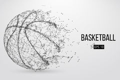 Siluetta di una palla di pallacanestro Illustrazione di vettore fotografia stock libera da diritti