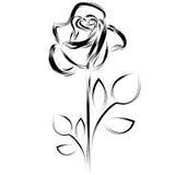 Siluetta di una rosa Fotografie Stock Libere da Diritti