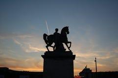 Siluetta di una statua Fotografia Stock Libera da Diritti
