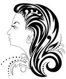 Siluetta di una testa femminile illustrazione di stock