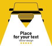 Siluetta di vettore dell'automobile illustrazione vettoriale