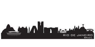 Siluetta di vettore dell'orizzonte della città di Rio de Janeiro Brazil royalty illustrazione gratis