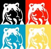 Siluetta di vettore dell'orso Fotografie Stock