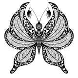 Siluetta di vettore della farfalla Fotografie Stock