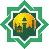 Siluetta di vettore della moschea Fotografia Stock Libera da Diritti